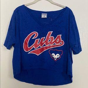 PINK Cubs Cropped Lounge Shirt